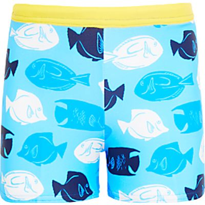 John Lewis Boys' Fish Swimming Trunks, Blue