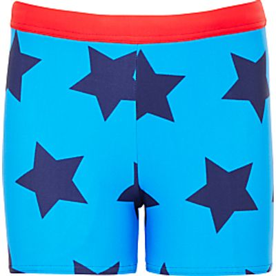 John Lewis Boys' Star Print Swimming Trunks, Blue
