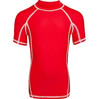 John Lewis Boys' Solid Short Sleeve Rash Vest, Red
