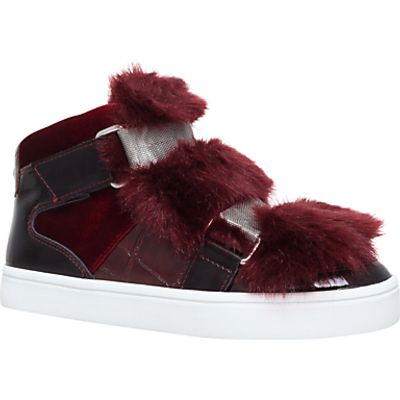 Carvela Lovely Rip Tape Trainers, Wine