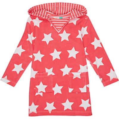John Lewis Girls' Star Towel Dress, Pink