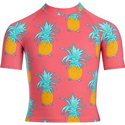 John Lewis Girls' Pineapple Rash Vest, Pink