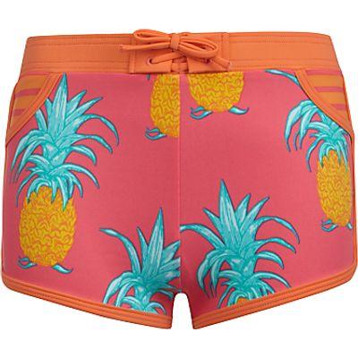 John Lewis Girls' Pineapple Print Board Shorts, Pink/Multi