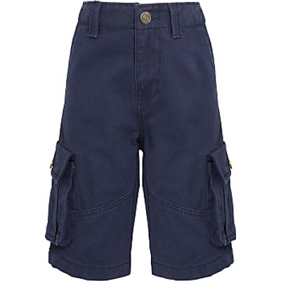 John Lewis Boys' Core Cargo Shorts, Navy
