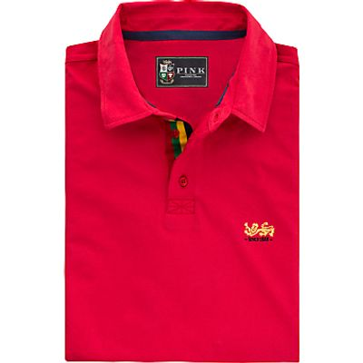 The Lions Collection by Thomas Pink Neale Plain Classic Fit Polo Shirt, Red