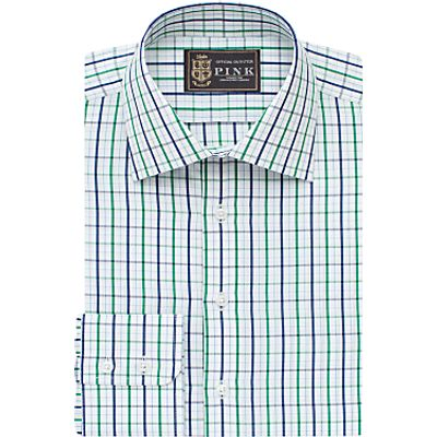5052376999339   The Lions Collection by Thomas Pink Robins Check Slim Fit Shirt  Navy Green Store