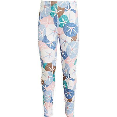 John Lewis Girls' Floral Leggings, Blue/Multi