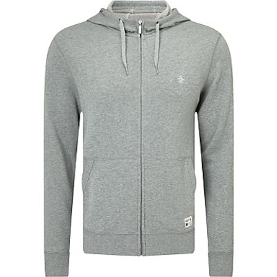 Original Penguin Zip-Through Hoodie, Rain Heather