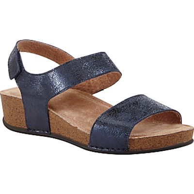 John Lewis Two Strap Sandals, Navy