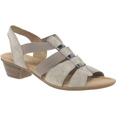 Gabor Joan Wide Fit Cushioned Block Heeled Sandals, Koala