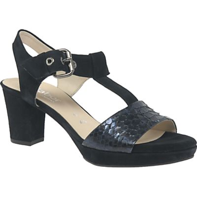 Gabor Clover Wide Fit Block Heeled Sandals