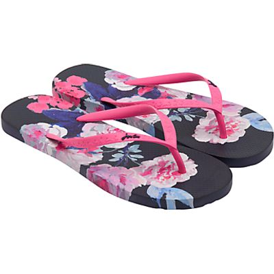 Joules Bloom Flip Flops, French Navy