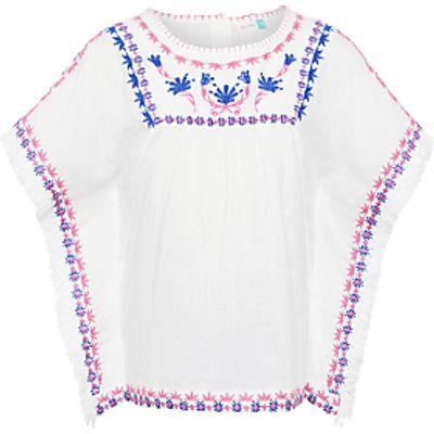 John Lewis Girls' Embroidered Kaftan Top