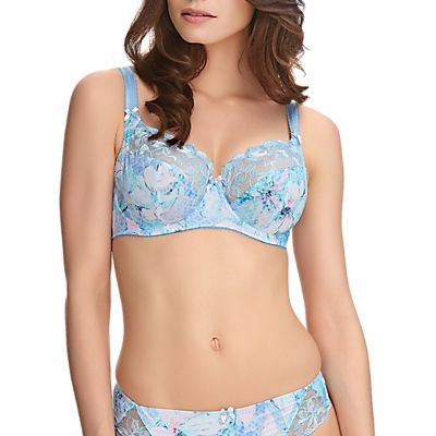 Fantasie Eloise Floral Print Side Support Full Cup Bra, Ice Blue