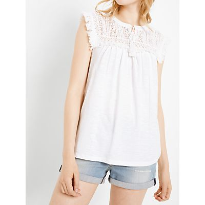 AND/OR Lace Yoke Top