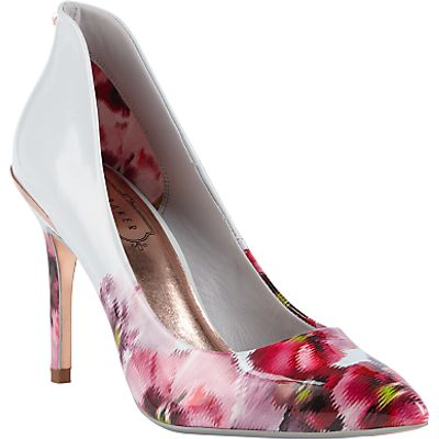 Ted Baker Savei Expressive Pansy Court Shoes, Multi
