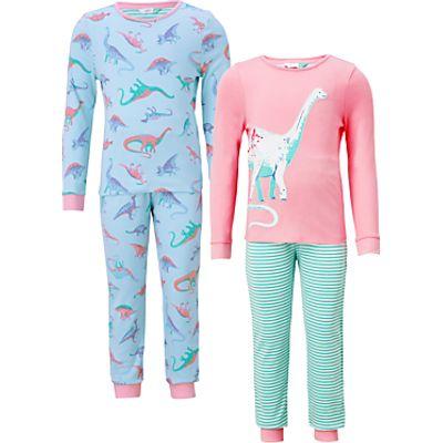 John Lewis Children's Dinosaur Print Pyjamas, Pack of 2, Multi