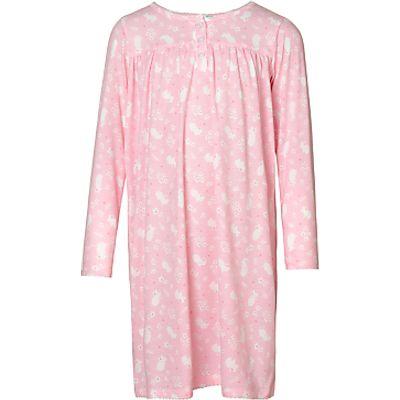 John Lewis Children's Floral Mouse Long Sleeved Night Dress, Pink