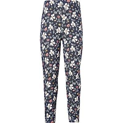 John Lewis Girls' Floral Print Leggings, Navy