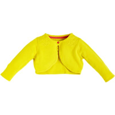 Angel & Rocket Baby Bolero Cardigan, Yellow