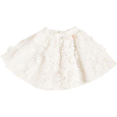 Angel & Rocket Girls' Lace Overlayed Skirt, White