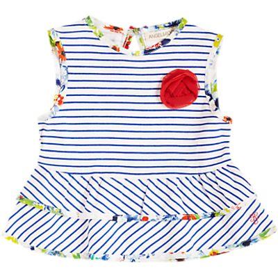 Angel & Rocket Baby Stripe Blouse, White