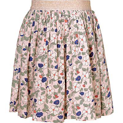 John Lewis Girls' Floral Print Skirt, Cameo Rose