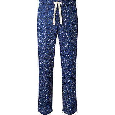 John Lewis Star Print Lounge Pants, Blue