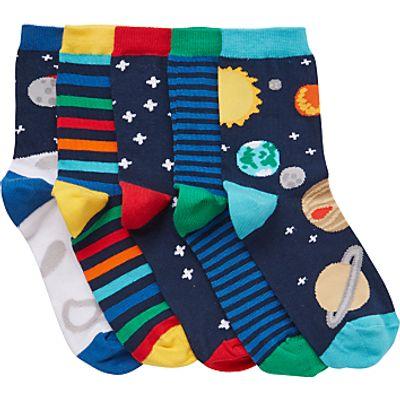 John Lewis Children's Space Socks, Pack of 5, Multi