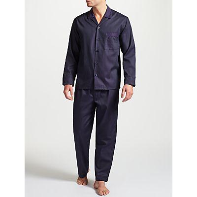 John Lewis Premium Satin Stripe Pyjamas, Purple