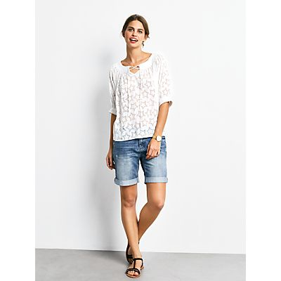 hush Bristol Devore Top, White