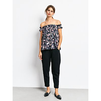 hush York Off The Shoulder Top, Botanical Print