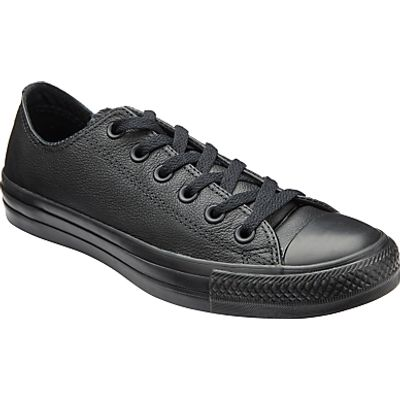 Converse Chuck Taylor All Star Ox Leather Trainers, Black