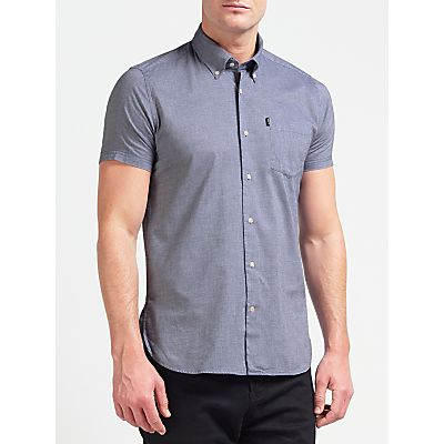 Barbour Casey Short Sleeve Oxford Shirt, Navy