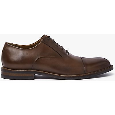 John Lewis Casual Toe Cap Oxford Shoes, Conker