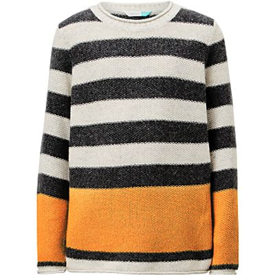John Lewis Boys' Stripe Seed Stitch Knit Jumper