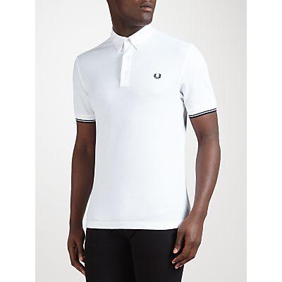 Fred Perry Woven Collar Piqué Polo Shirt