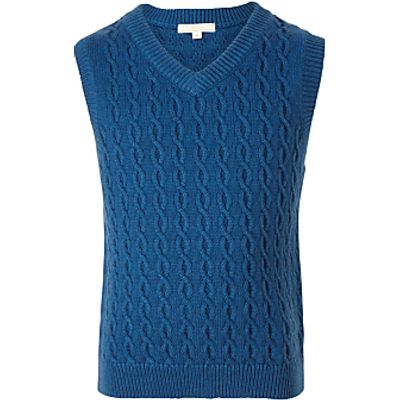John Lewis Boys' Heirloom Cable Knit Tank Top