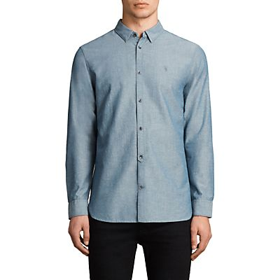 AllSaints Tulare Textured Slim Fit Shirt
