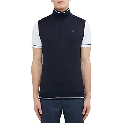Ted Baker Golf Lag Half-Zip Gilet, Navy