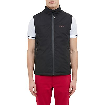 Ted Baker Golf Rumble Shower-Resistant Gilet, Black