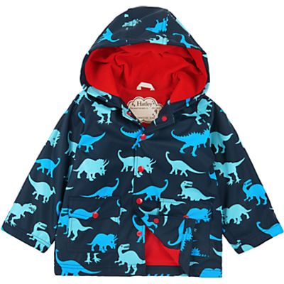Hatley Boys' Lots of Dinos Dinosaur Raincoat, Navy