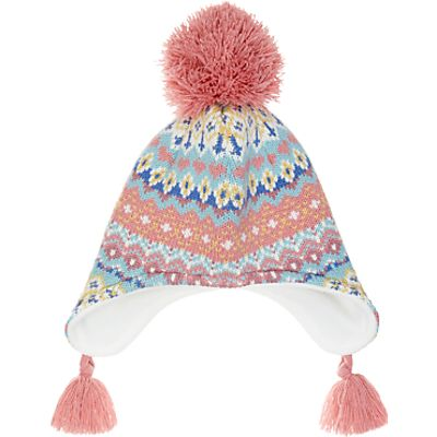 John Lewis Children's Pretty Fair Isle Trapper Hat, Multi