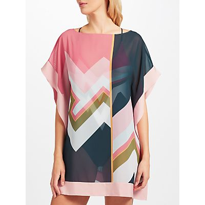 Ted Baker Luluti Mississippi Print Square Cover-Up, Blue/Multi