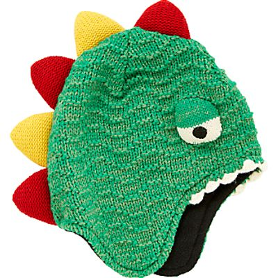 John Lewis Children's Dinosaur Trapper Hat, Green