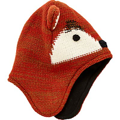 John Lewis Children's Fox Trapper Hat, Orange