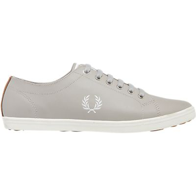 Fred Perry Kingston Leather Trainers, Silver