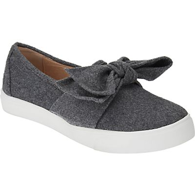 John Lewis Erina Bow Slip On Trainers, Grey