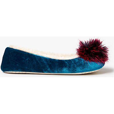 John Lewis Tonal Pom Pom Ballerina Slippers