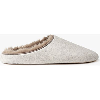 John Lewis Marled Mule Slippers, Natural